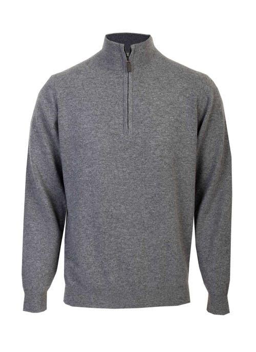 Cashmere Grey Zip Neck Jumper