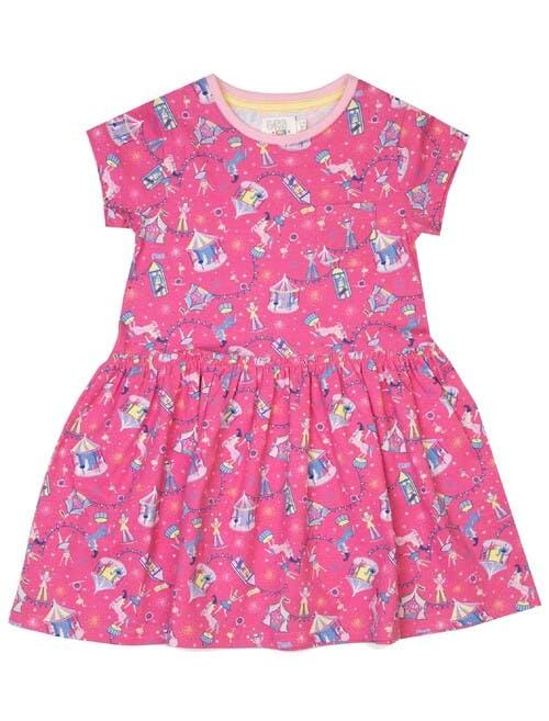 Pink Circus Print Dress