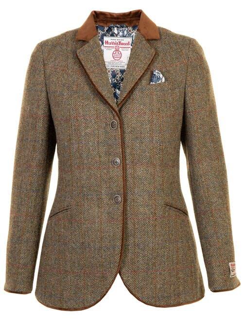 Green Harris Tweed Hacking Jacket