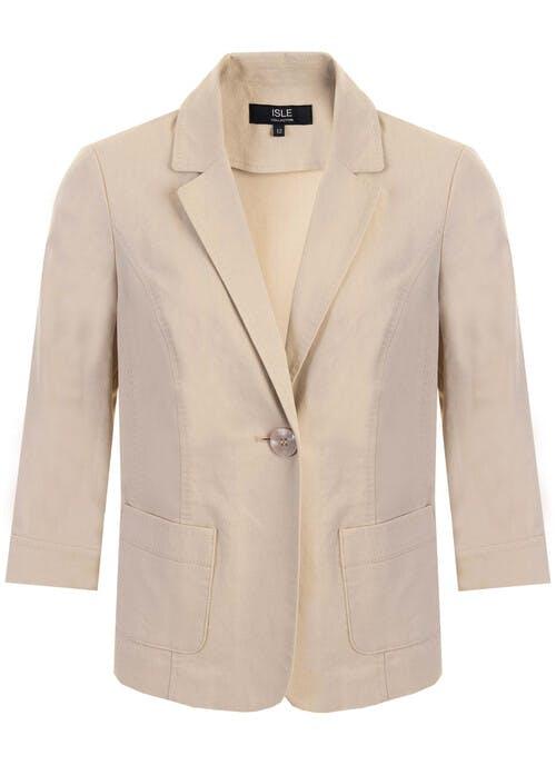 Stone Linen Mix Jacket