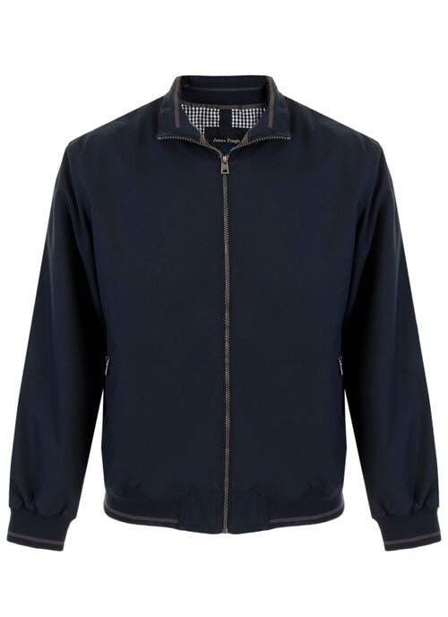 Navy Zip Front Jacket