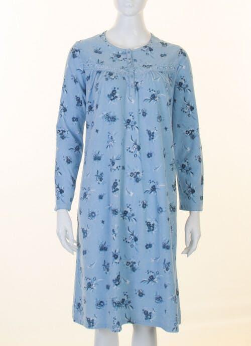 Blue Fleece Nightdress