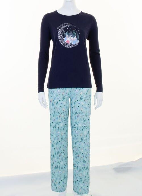 Navy Owl Print Pyjama Set