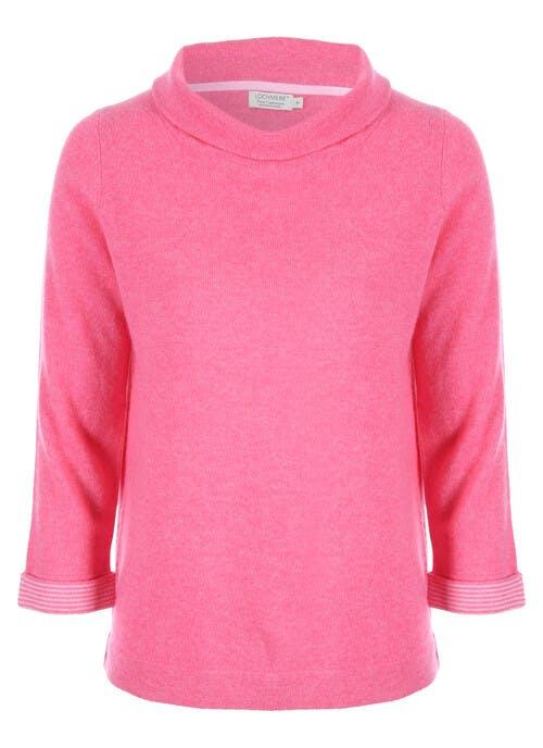 Pink Cashmere Bardot Neck Jumper