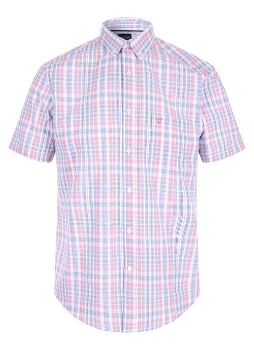 Coral Check Shirt