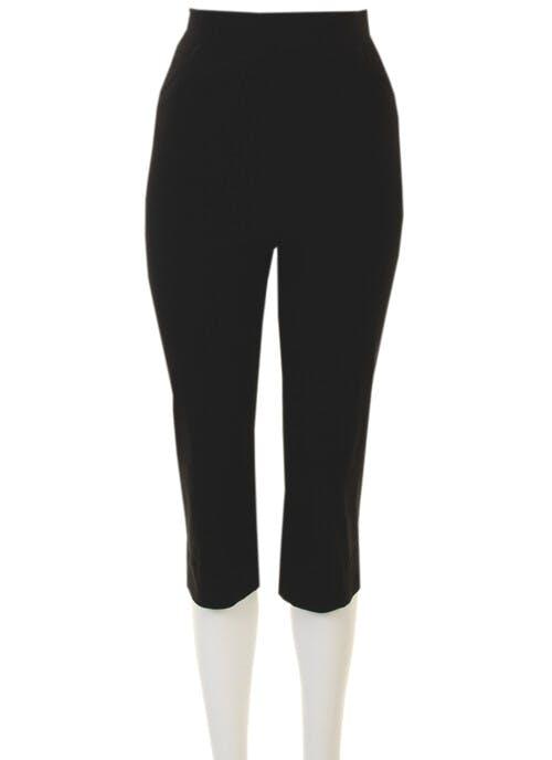 Black Stretch Capri Trouser
