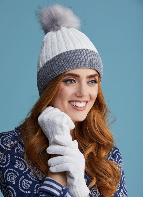 Chenille Ivory Glove