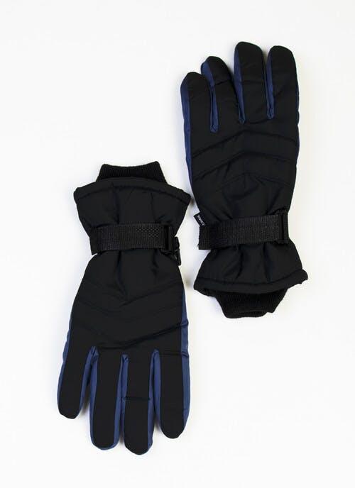 Black Mens Ski Gloves