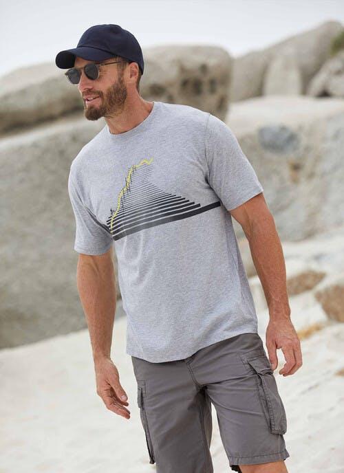 Grey Graphic Print T Shirt