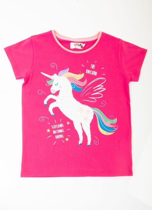 Pink Unicorn T-Shirt 2-4yrs