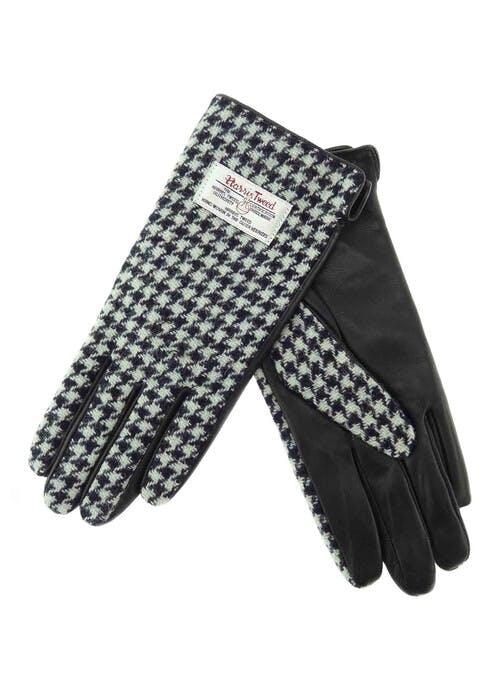 Harris Tweed Leather Gloves