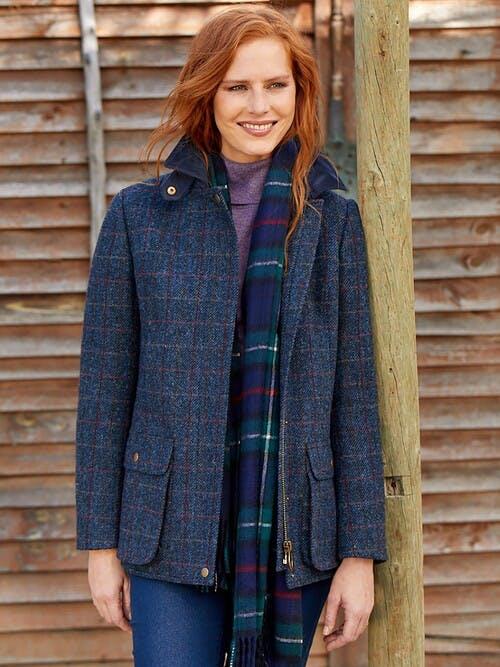 Blue Harris Tweed Country Jacket