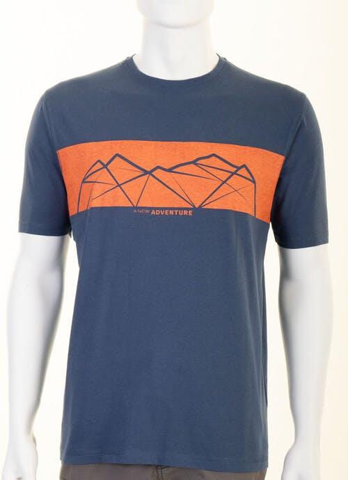 Blue Graphic Print T Shirt