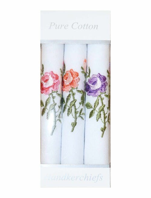 Rose Embroidered Hankies