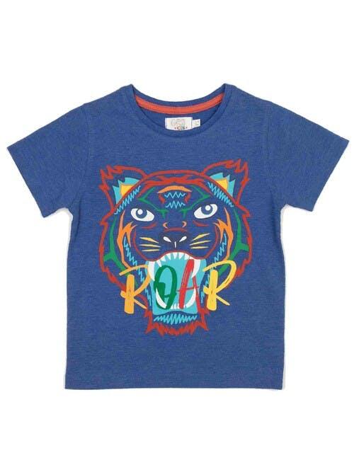 Blue Tiger Roar T-Shirt